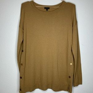 Camel Colored Button Side Sweater